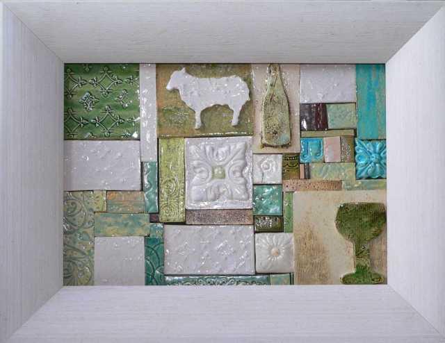 Mosaikfläche ca. 30 x 21cm 149 EU